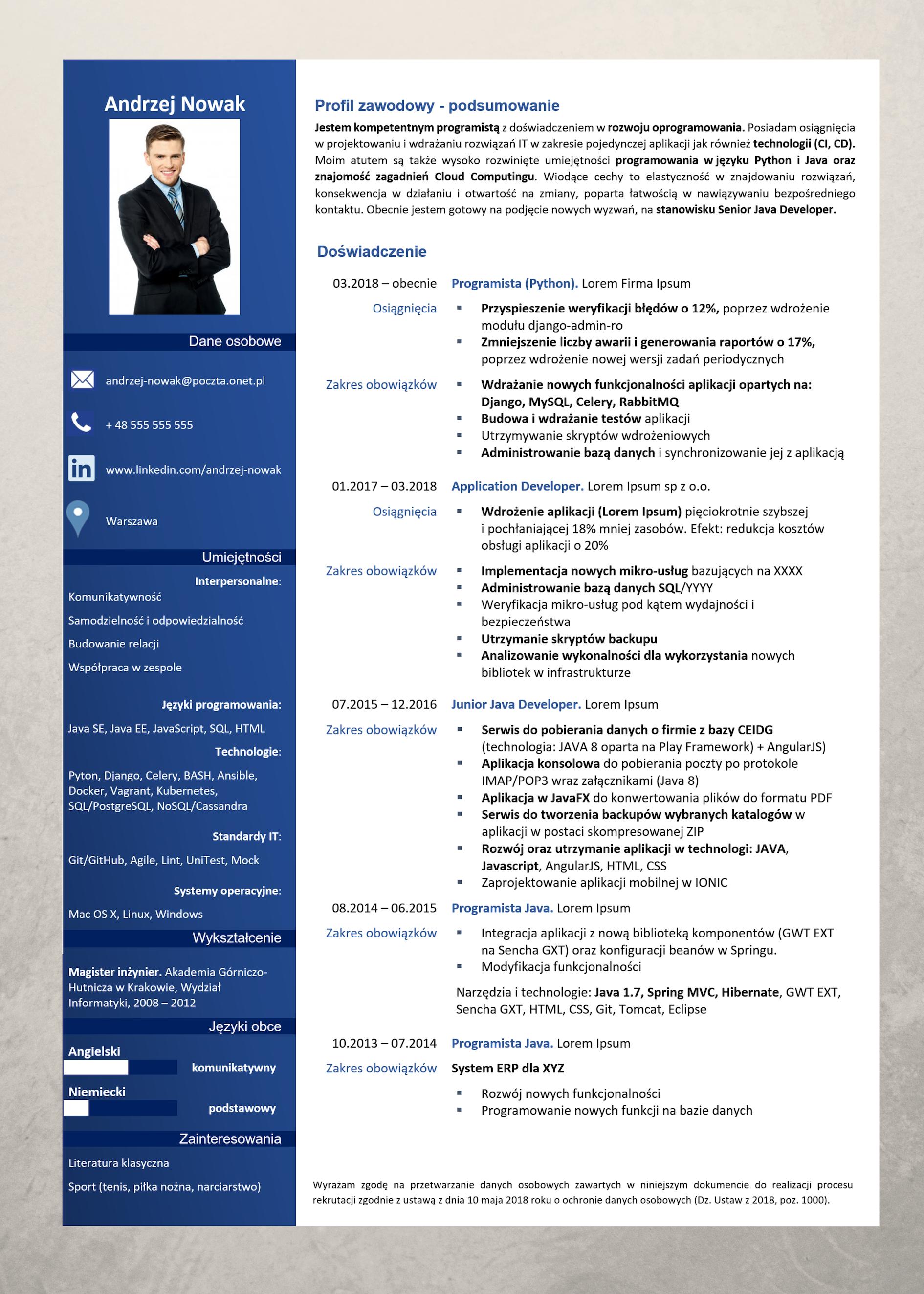 Profesjonalne Wzory Cv Praktyczne Wskazówki Experci Kariery